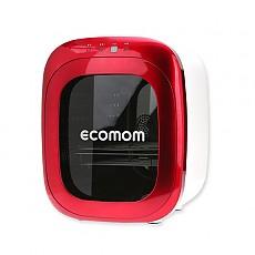ECO-70KA 에코맘 젖병소독기 고급형-레드(Red) 문화상품권+램프+칫솔걸이